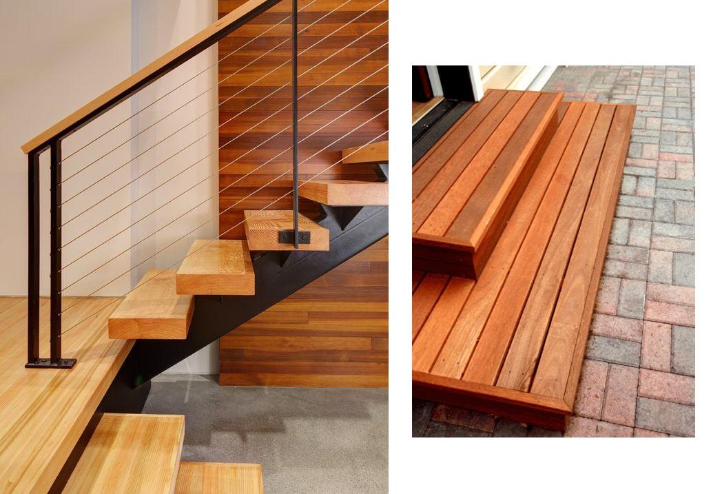 cách thi công mặt bậc cầu thang gỗ