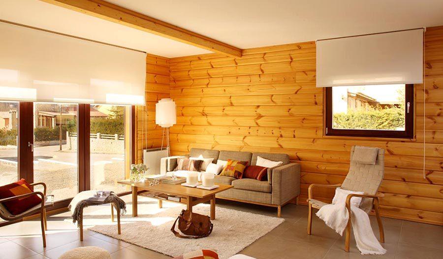 Mẫu gỗ tự nhiên ốp tường phòng khách