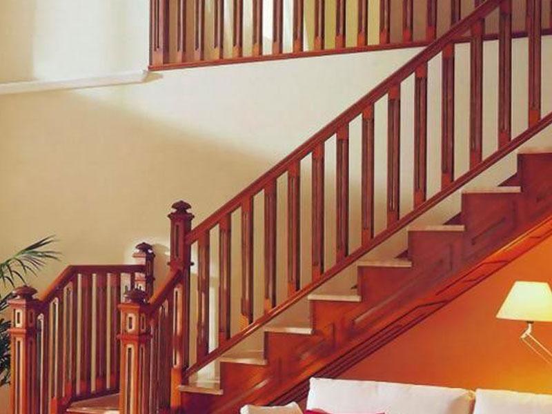 Mẫu lan can cầu thang gỗ đẹp