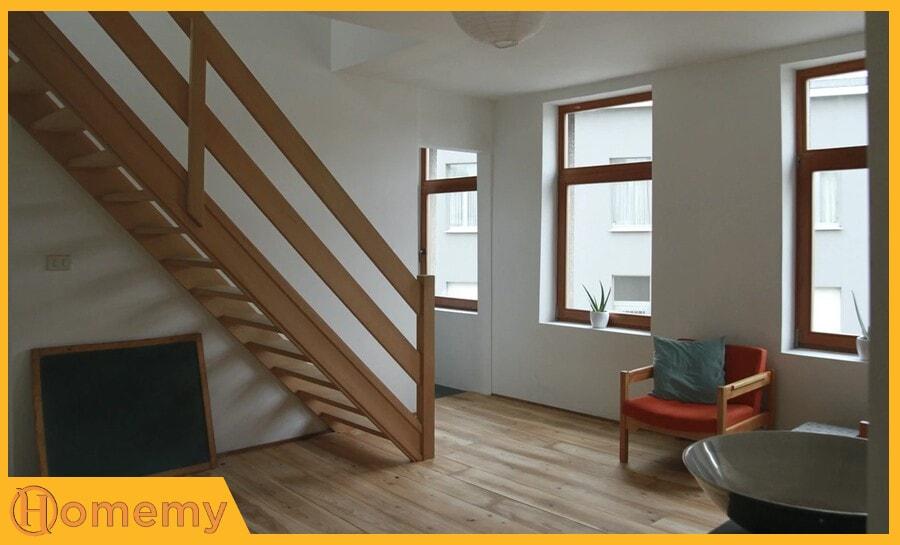 Sàn gỗ cầu thang Homemy