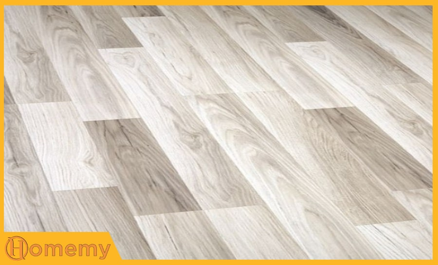 sàn gỗ màu trắng