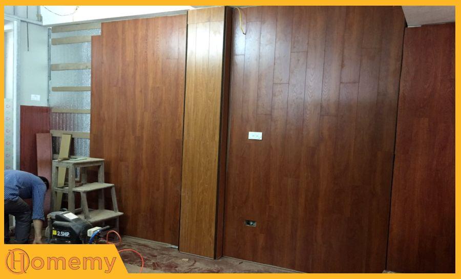sàn gỗ ốp tường