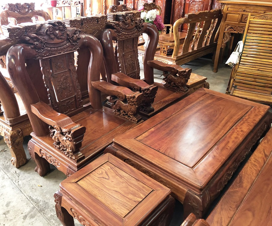 gỗ trắc và gỗ cẩm lai