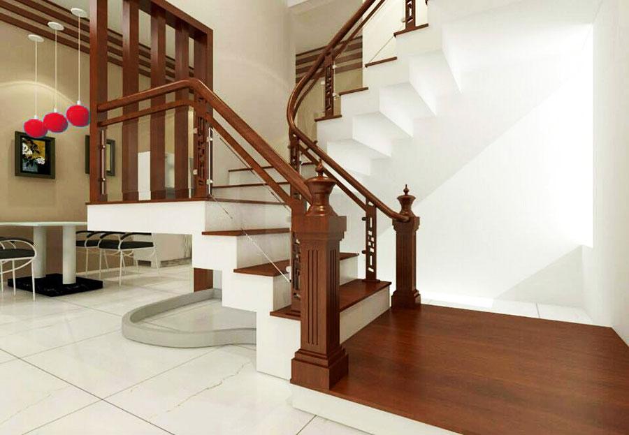 cách làm cầu thang gỗ tự nhiên