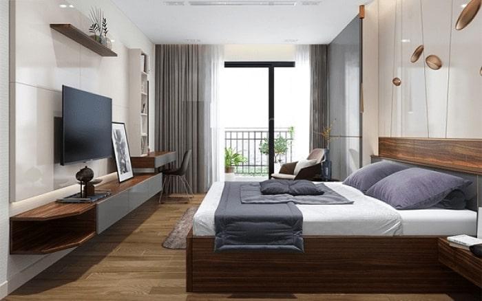 sàn gỗ phòng ngủ cao cấp