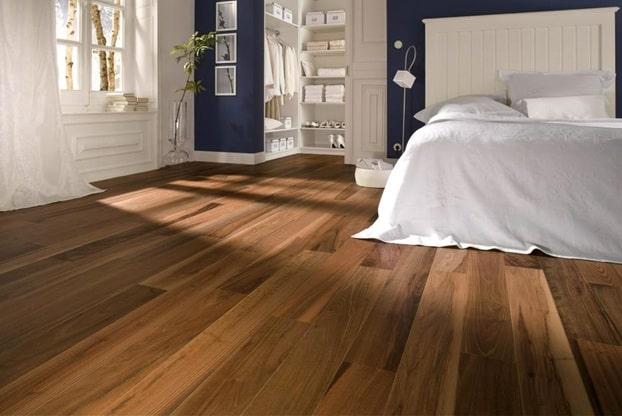 sàn gỗ phòng ngủ hiện đại