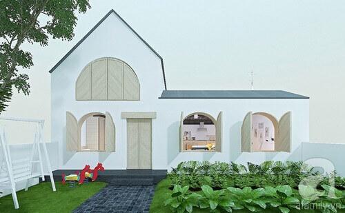 Nhà có gác lửng ở nông thôn của vòm mới lạ