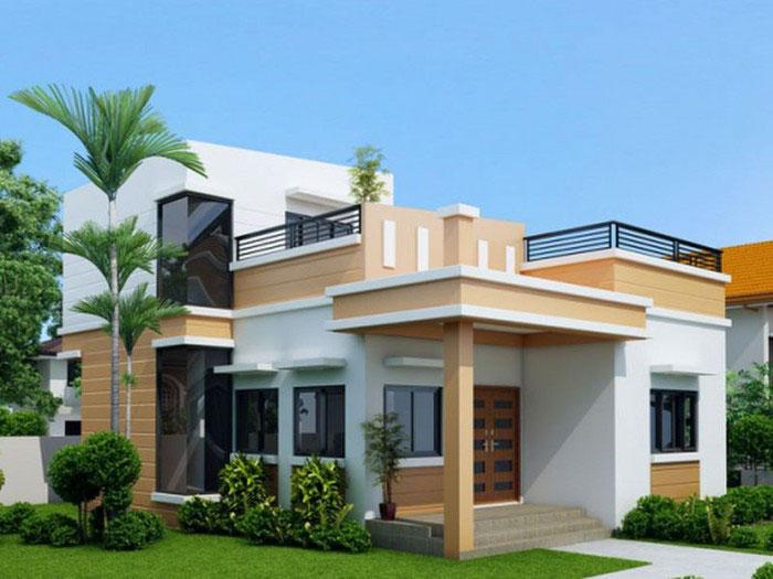 Nhà cấp 4 80m2 tông vàng trắng đẹp nhẹ nhàng