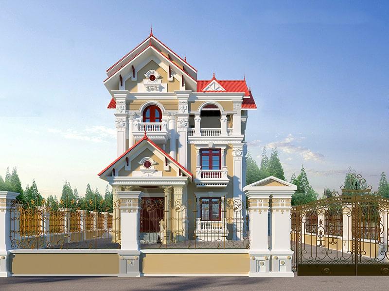 thiết kế nhà đẹp hướng tân cổ điển