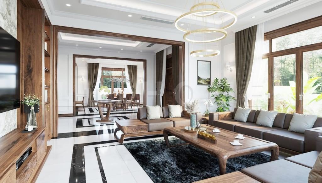Mẫu thiết kế nội thất biệt thự đẹp 2021