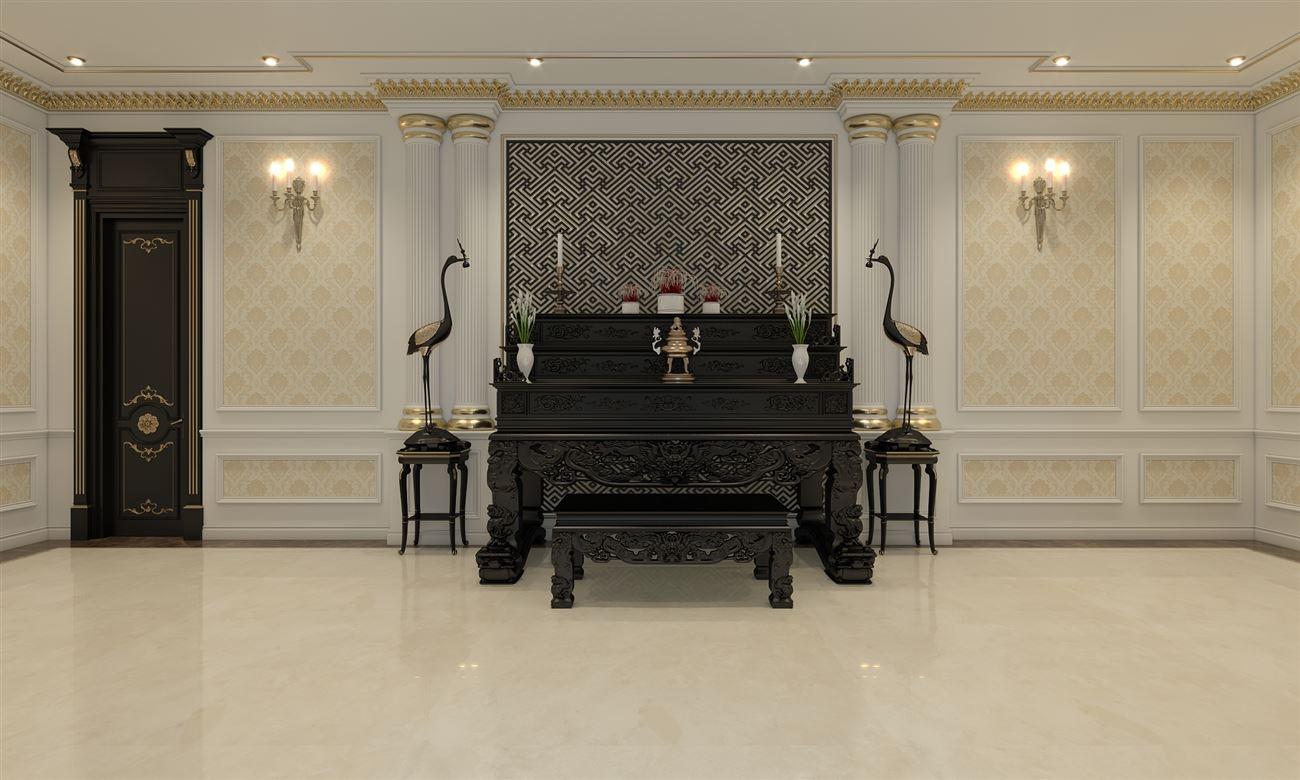 Thiết kế nội thất cho phòng thờ biệt thự
