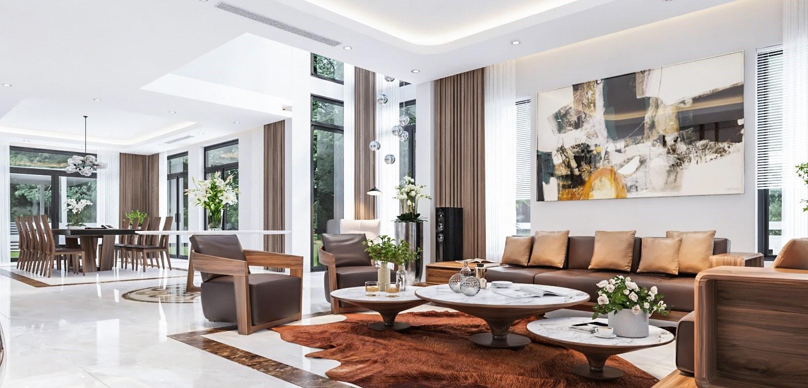Thiết kế nội thất biệt thự đẹp 2021