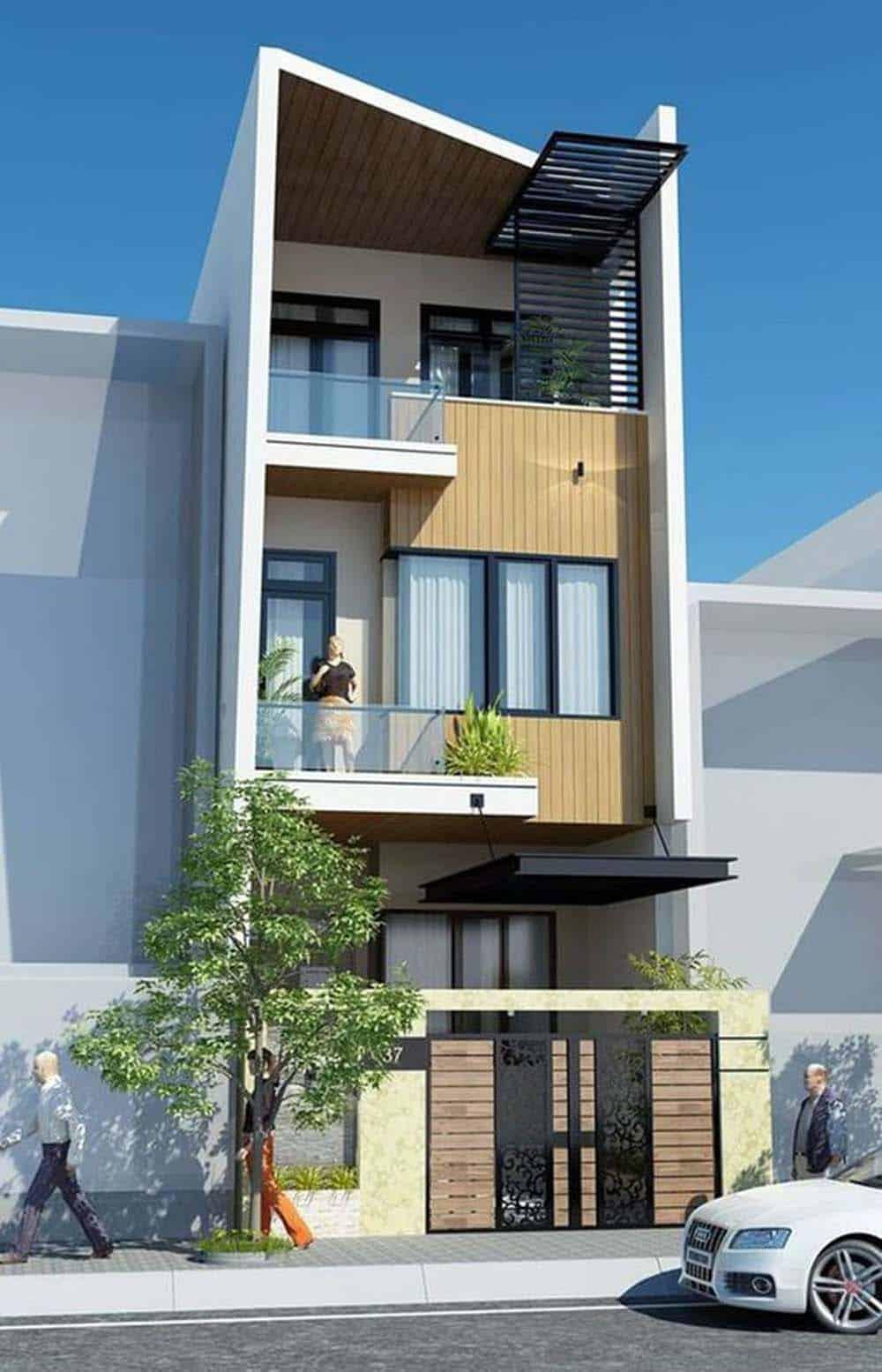 Diện tích đất nền hẹp vẫn có thể xây dựng được những căn nhà đẹp như thế này