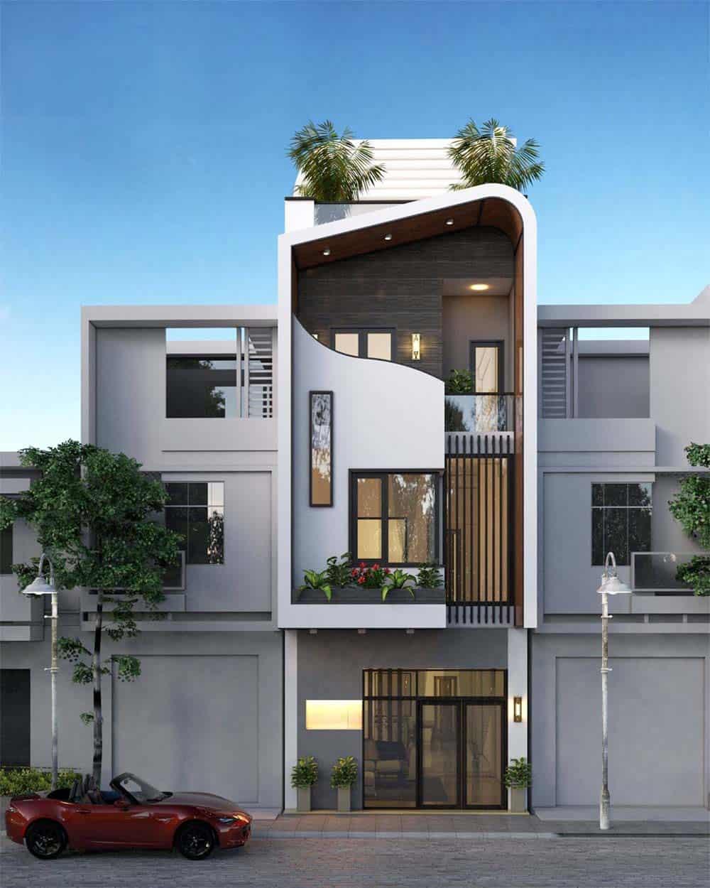 Mẫu nhà 3 tầng thiết kế độc đáo