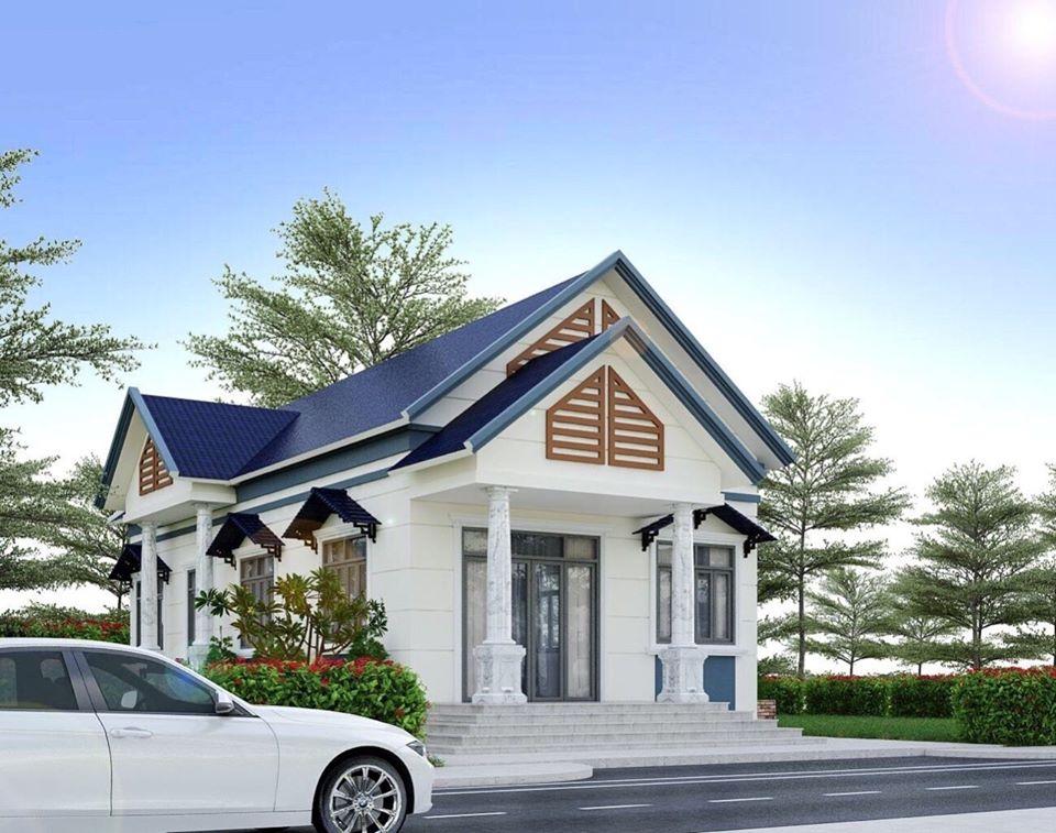 Một căn nhà cấp 4 100m2 có mái thái cực kỳ tinh xảo
