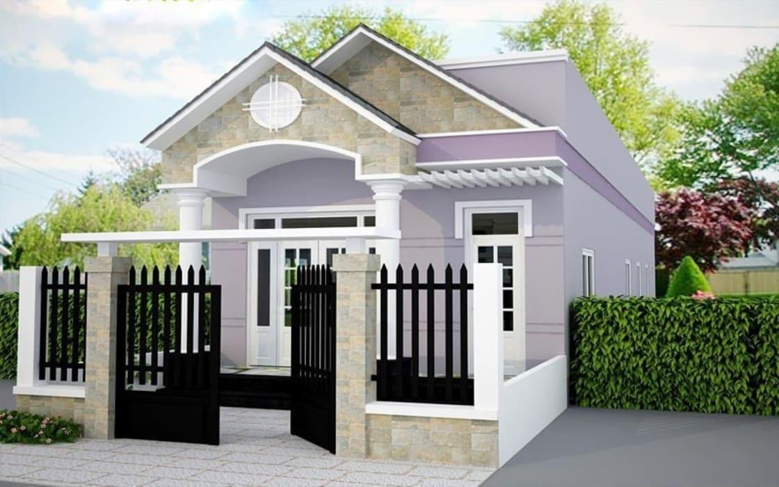 Mẫu nhà cấp 4 thiết kế đẹp mắt với chi phí tiết kiệm ở nông thôn