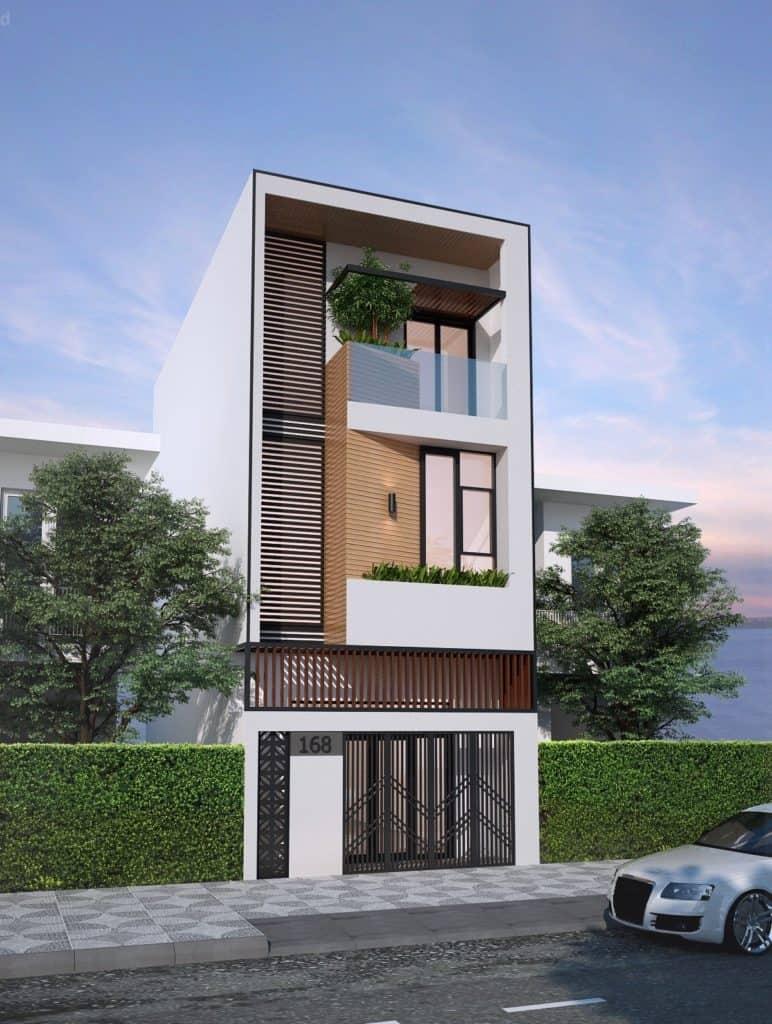 Một căn nhà 3 tầng thế này có chi phí xây dựng khoảng 1 tỷ đồng